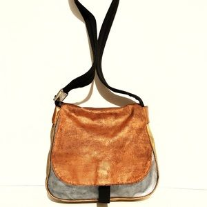 Fendi Fendissime metallic block coated canvas bag
